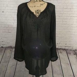 HOST PICK!  DUO Maternity Sheer Black Shirt